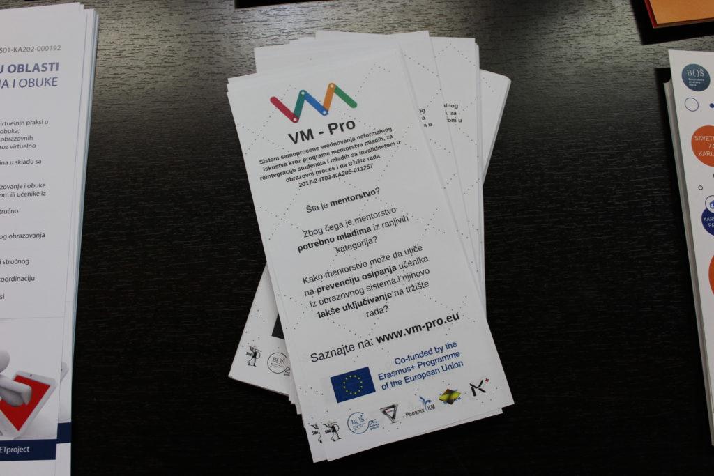 VM PRO flyers on BOS desk
