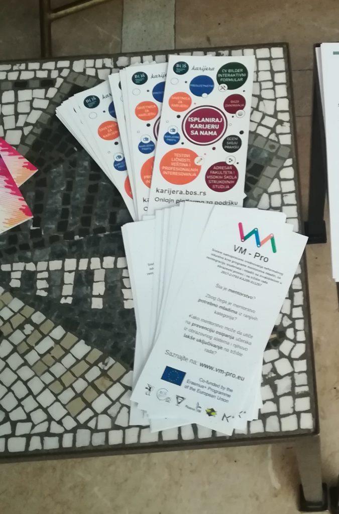 VM PRO flyers photo on BOS desk